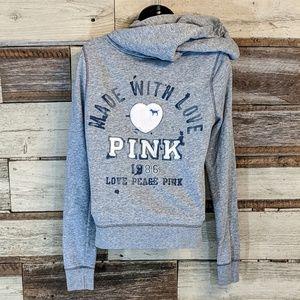 PINK Victoria's Secret Jackets & Coats - Victoria Secret 1986 Pink Hoodie Made With Love